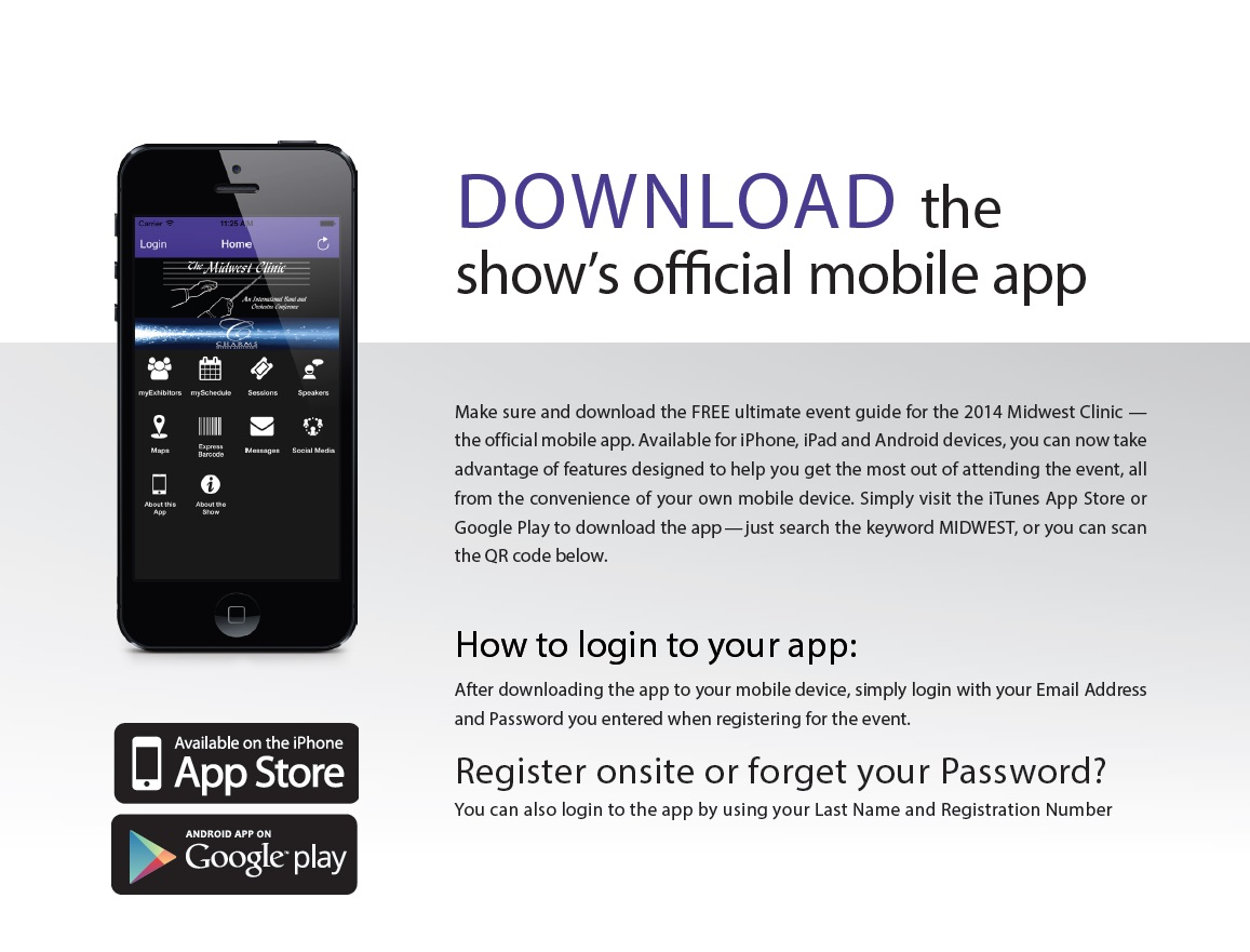 The Midwest Clinic Download The 2014 Official Mobile App